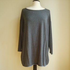 Eileen Fisher 1X jersey stripe tunic